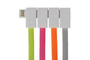 USB kabel slim vier stuks
